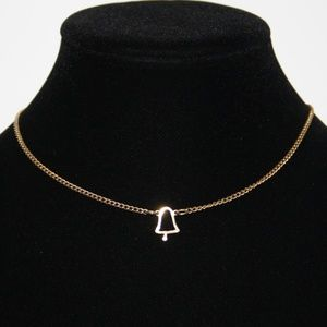 Vintage gold Bell choker necklace